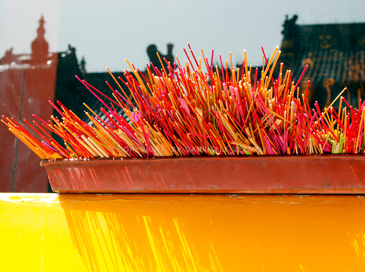 Incense sticks at the Yonghegong Lama Temple in Beijing