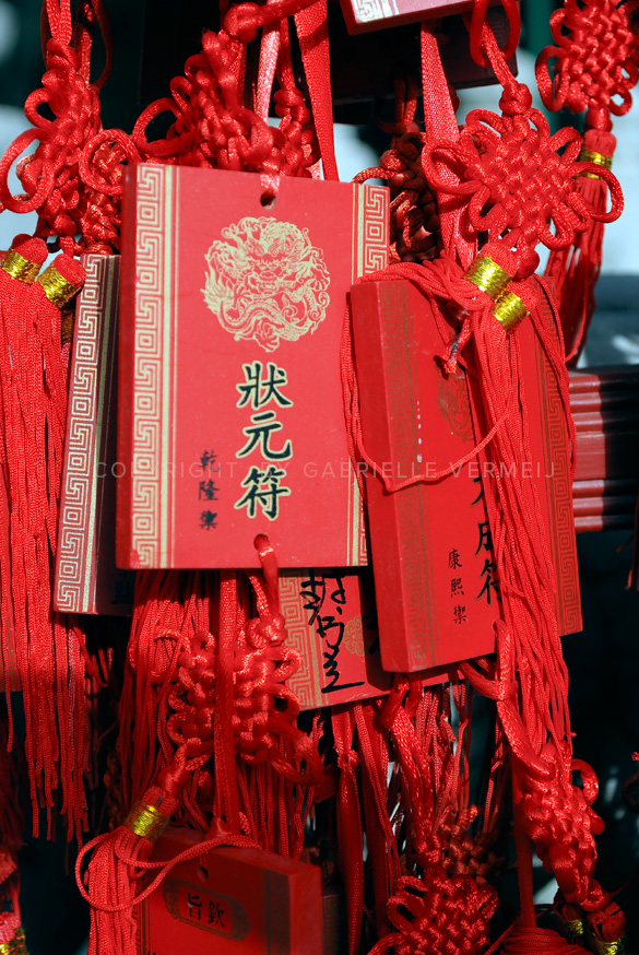 Red Wish Cards in a Buddhist temple