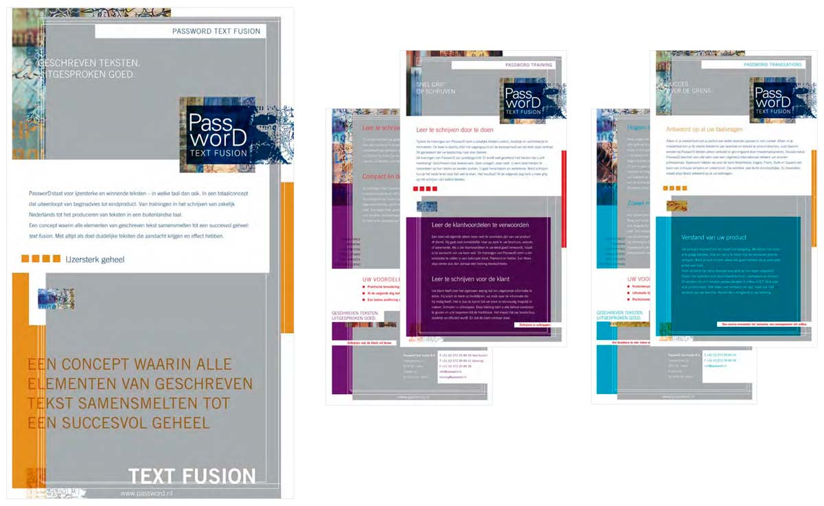 Corporate brochures for a translation agency