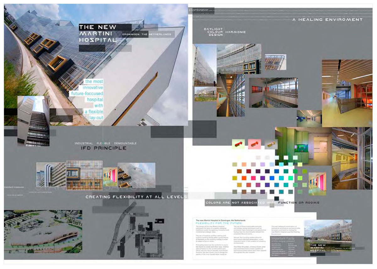 Project presentation of the Martini Hospital for The World Architecture Festival